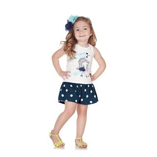 Pulla Bulla Toddler Girl Set Polka Dot Tank and Shorts 2pcs Outfit