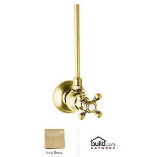 "Rohl A5578XM-2 Country Bath Angle Stop Valve with 20"" Supply Tube and Metal Cros"