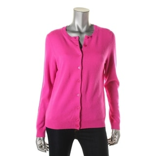 Private Label Womens Cashmere Button Front Cardigan Sweater - L
