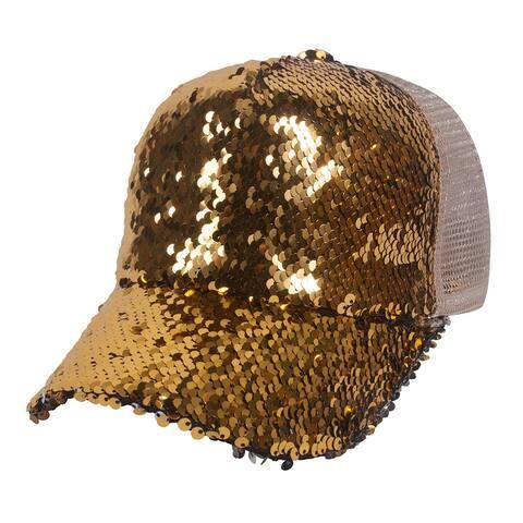 Top Headwear Two Tone Sequin Fancy Baseball Cap