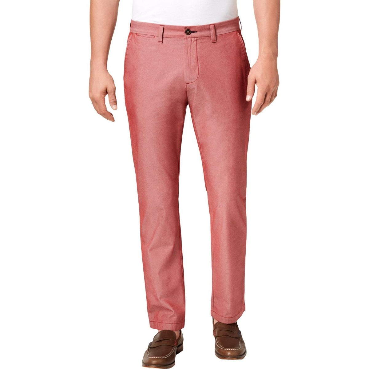 Tommy Hilfiger Mens Side Stripe Casual Chino Trousers