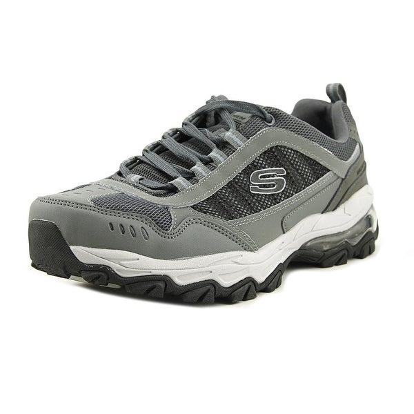 Skechers Fit Air Men W Round Toe Synthetic Gray Tennis Shoe