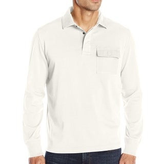 Nautica NEW White Sail Mens Size XL Henley Pocket Long Sleeve Shirt