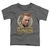 Trevco Tintin-Metal Short Sleeve Toddler Tee, Charcoal - Large 4T