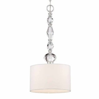 """Designers Fountain 89930 Evi 2 Light 10"""" Wide Pendant with Crystal Accents"""