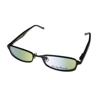 Lucky Womens Opthalmic Eyeglass Womens Modifed Rectangle Metal Black Multi Mia - Medium