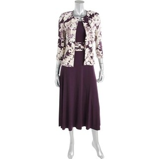 Jessica Howard Womens Lined 2PC Dress With Jacket - 8