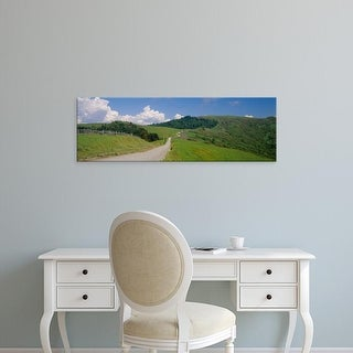 Easy Art Prints Panoramic Image 'Dirt road passing through a landscape, Redwood National Park, California' Canvas Art