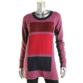 Tommy Hilfiger Womens Colorblock Wool Blend Pullover Sweater