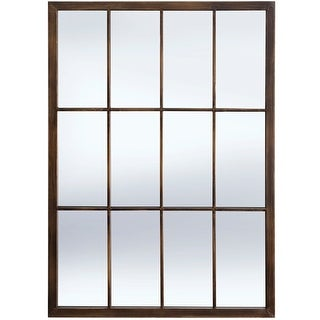 Link to StyleCraft Bradley Bronze Metal Window Pane Wall Mirror Similar Items in Mirrors
