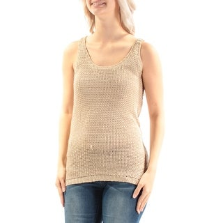 RALPH LAUREN $89 Womens New 2253 Beige Jewel Neck Sleeveless Sweater S B+B