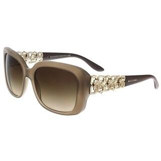 Bulgari BV8167B 534913 Turtle Dove Rectangle Sunglasses - 55-17-135