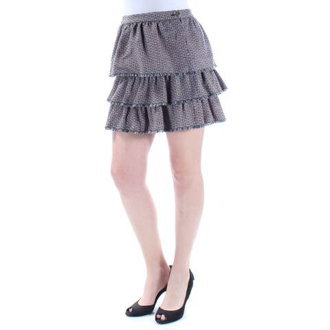 SONIA RYKIEL Womens Blue Above The Knee Ruffled Skirt Size: 12