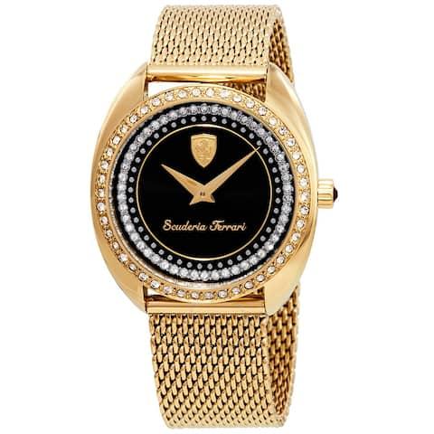 Gold Ladies Ferrari Watch - One Size