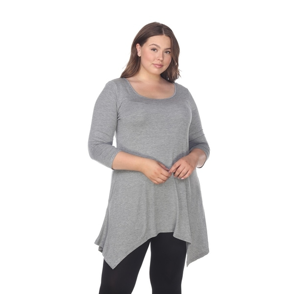 807073b374e Shop Plus Size Makayla Tunic Top - Charcoal - Free Shipping On ...
