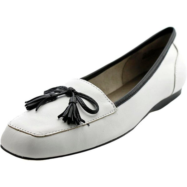 Array Eliza Women N/S Square Toe Leather White Loafer