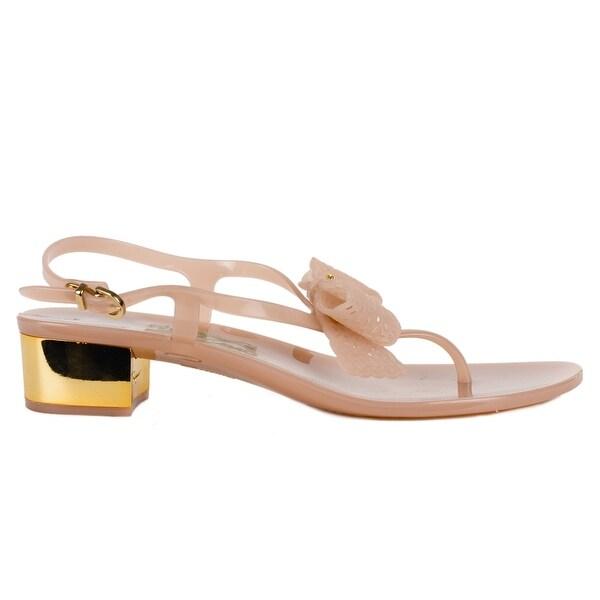 0b2ae8482 Salvatore Ferragamo Women Nude Perala Lace-Bow Jelly Sandals US10 M~RTL$375