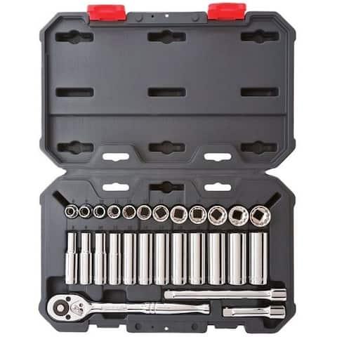"Crescent CSWS9N Metric Socket Wrench Set, 3/8"""