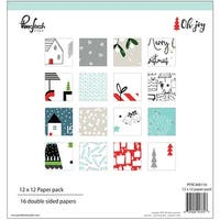 "Pinkfresh Studio Double-Sided Paper Pack 12""X12"" 16/Pkg-Oh Joy, 16 Designs"