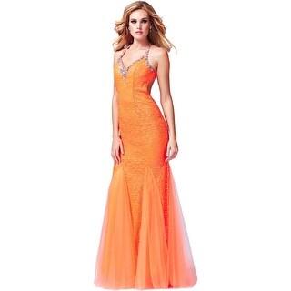 Cassandra Stone by Mac Duggal Womens Formal Dress Embellished Open Back