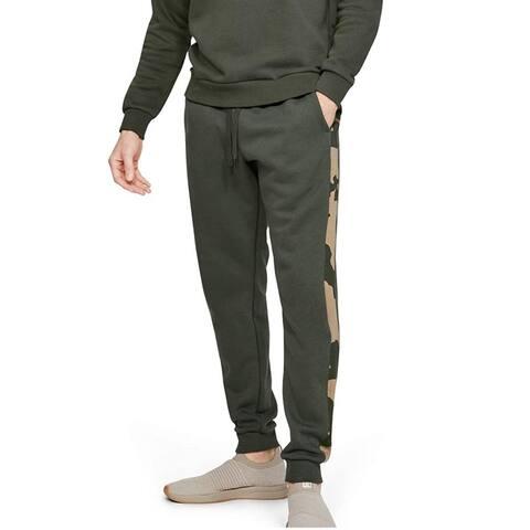 Under Armour Men's Rival Fleece Camo Joggers Green Size 2 Extra Large