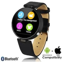 Indigi® Bluetooth Sync Smart Wrist Watch iPhone & Android Compatible + Heart Rate + SMS Alert + Dialer(Pickup/Receive)