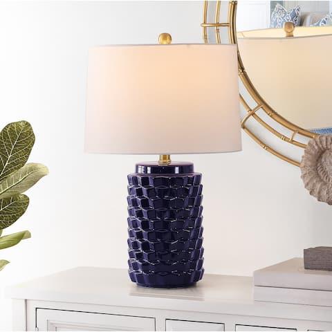 "SAFAVIEH Lighting 22.5-inch Weldon Ceramic Table Lamp - 15"" x 15"" x 22.5"""