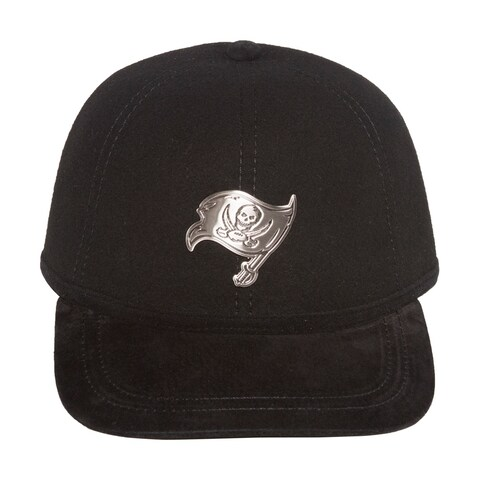 NFL Tampa Bay Buccaneers Wool Blend Cappello Fitted Hat Cap - Black