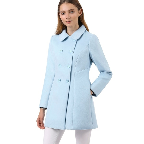 408991f2 Shop Women's Peter Pan Collar Double Breasted Trench Coat - Free ...