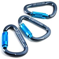 3PCS Twist Locking Aluminum Carabiner 25KN Pear Shape Quick-Lock Carabiner for Outdoor Activity