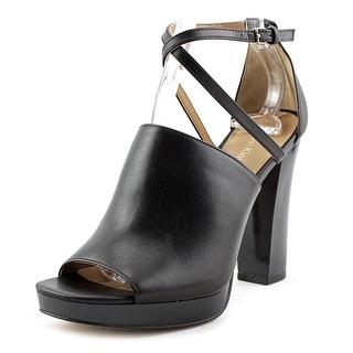 Calvin Klein Baida   Open Toe Leather  Platform Heel