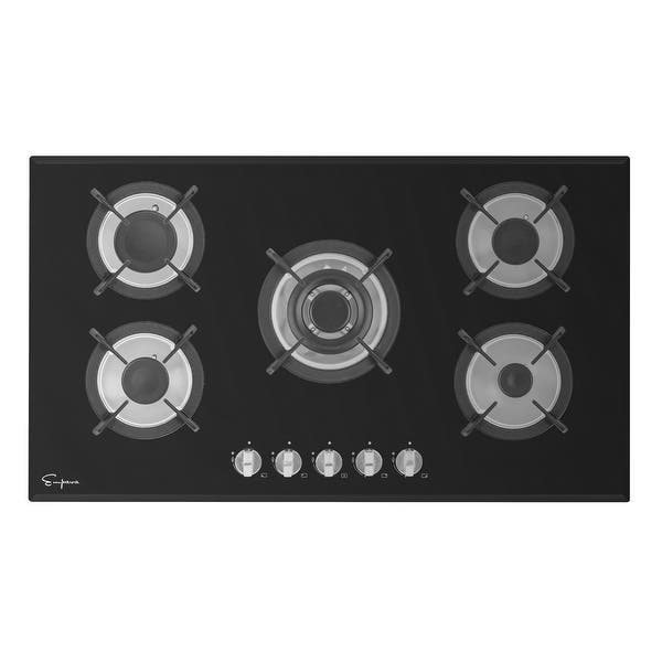 Shop Empava 30 In Gas Stove Cooktop With 5 Italy Sabaf Sealed Burners Ng Lpg Convertible In Stainless Steel Overstock 22469059 30inch