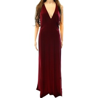 Vera Wang NEW Red Women's Size 8 Tie Back Maxi Empire Waist Gown