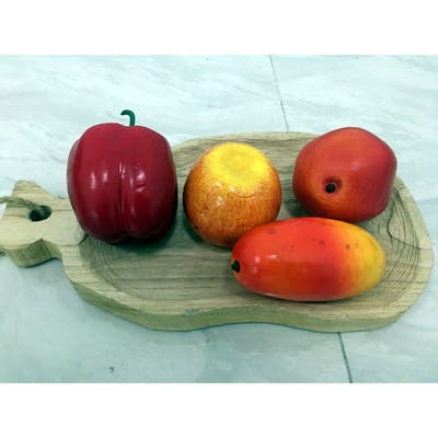 2 Pieces Steak pizza fish shaped wooden tray custom fruit cake bread sushi plate environmental protection lacquered wooden plate