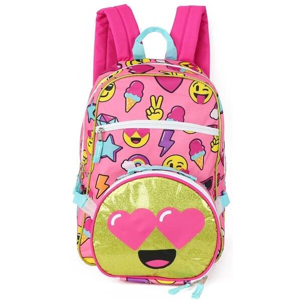 Trailmaker Girls Emoji Backpack with Lunch Bag