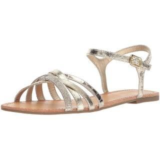 91d64a74b Kenneth Cole REACTION Women s Shore-Ly Slip Slide X-Band Straps Flat Sandal.  Quick View