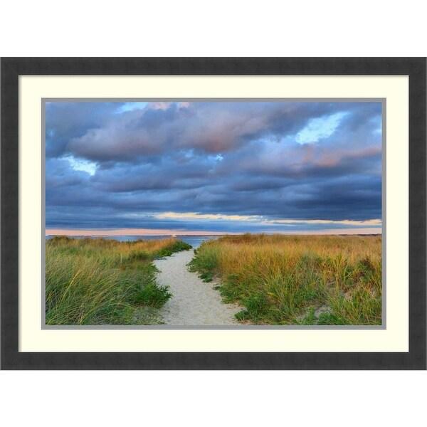 Framed Art Print 'Jetties Beach Path' by Katherine Gendreau 30 x 22-inch. Opens flyout.