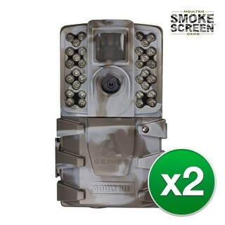 Moultrie MCG-13212 A35 Game Camera with Long Range Infrared 32-LED Flash (850nm) - (2-Pack)