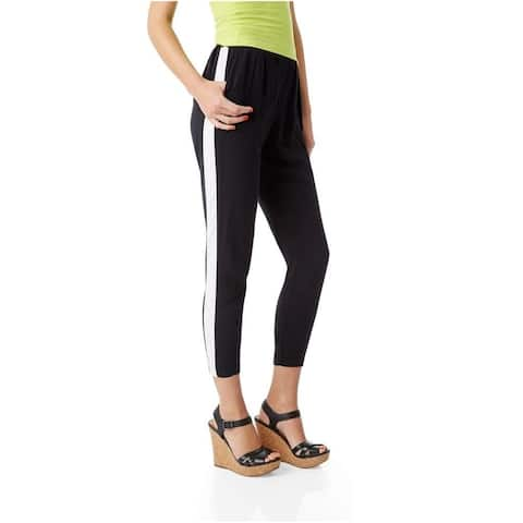 Aeropostale Womens Lightweight Athletic Track Pants, black, Large