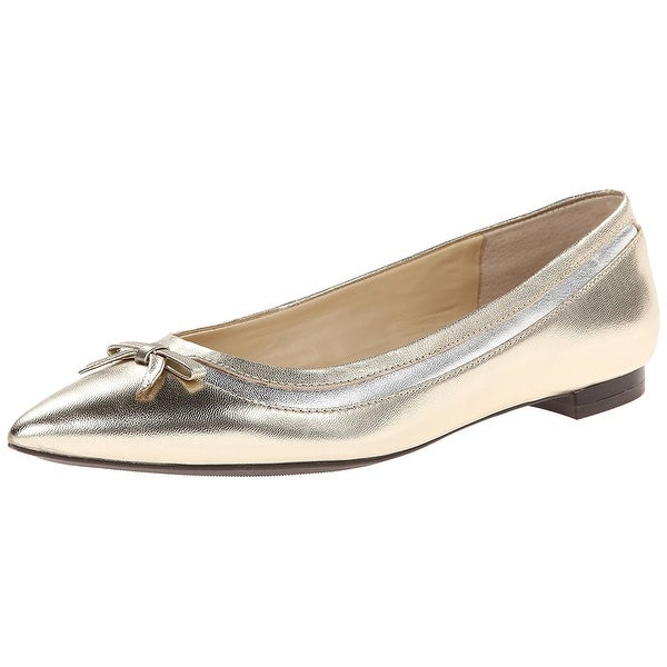 Ralph Lauren Womens Sally Leather Pointed Toe Slide Flats