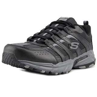 Skechers Stamina Plus-Rappel  Men  Round Toe Leather Black Cross Training
