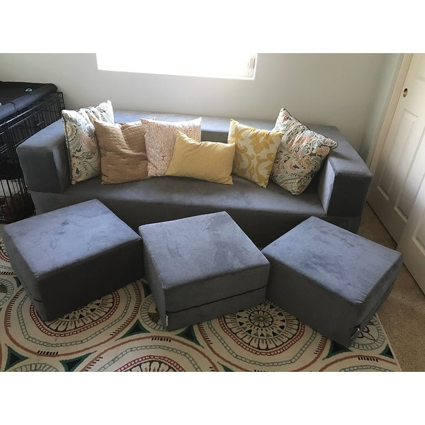Clay Alder Home Claiborne California King Convertible Sleeper Sofa And Ottomans Free Shipping Today 10704078