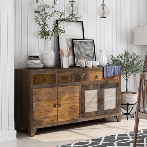 Furniture of America Rudd Solid Wood Dining Server