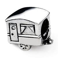Sterling Silver Reflections Camper Trailer Bead (4mm Diameter Hole)
