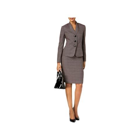 Le Suit Womens Skirt Suit Tweed Business Attire