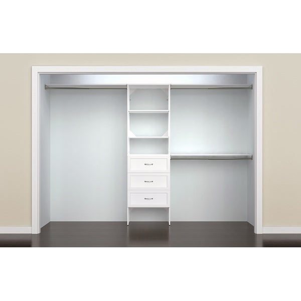 ClosetMaid SuiteSymphony 25 in. Closet Organizer with Shelves and 3 Drawers. Opens flyout.