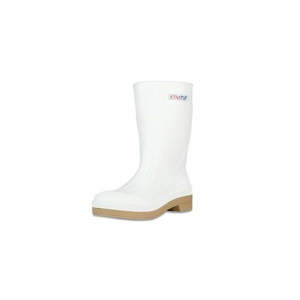 "Xtratuf Men's 11"" White Shrimp Boots w/ Chevron Outsole & Heel - Size 14"