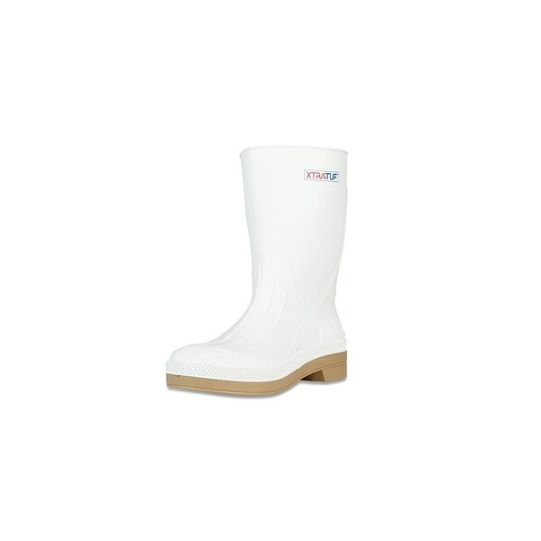 "Xtratuf Men's 11"" White Shrimp Boots w/ Chevron Outsole & Heel - Size 6"