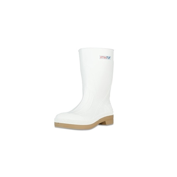 "Xtratuf Men's 11"" White Shrimp Boots w/ Chevron Outsole & Heel - Size 8"