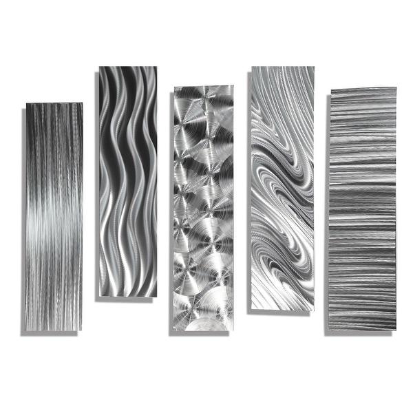 Metal Wall Accents statements2000 set of 5 silver metal wall art accentsjon allen